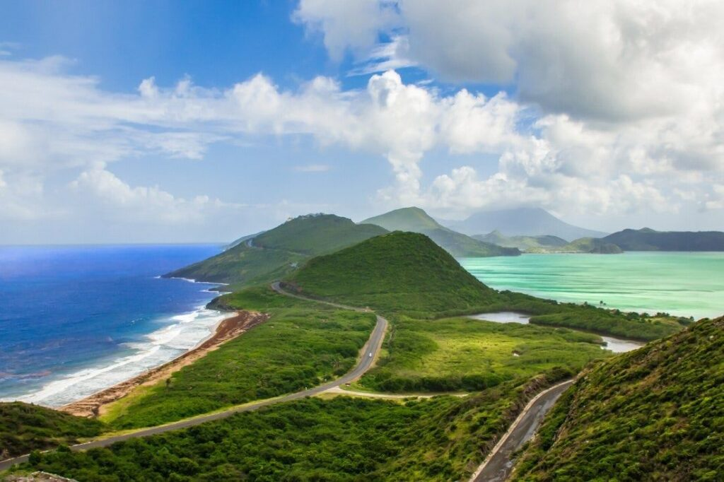 Hiking in the coastline of Saint Kitts and Nevis
